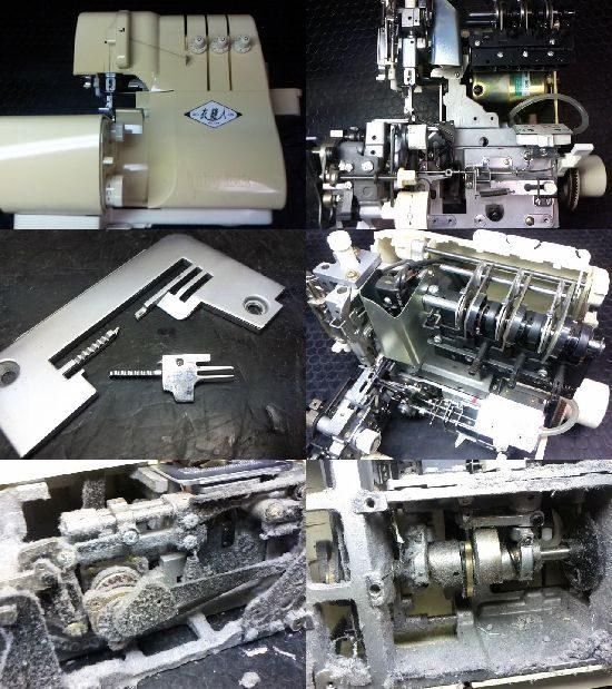 ジューキbabylock衣縫人BL34のミシン修理