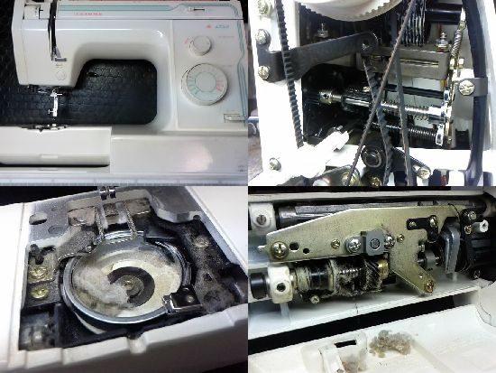ジャノメ1350のミシン修理