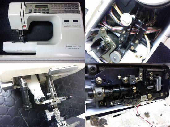 ジャノメセンサークラフト7000のミシン修理