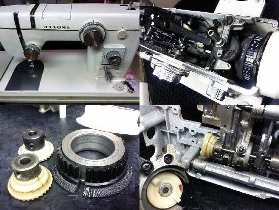 ジャノメトピアエース802型のミシン修理