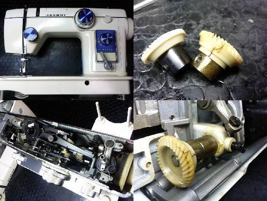 ジャノメトピアレーヌ804のミシン修理