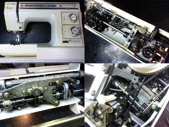 ジャノメミシン修理エクセル22(818型)