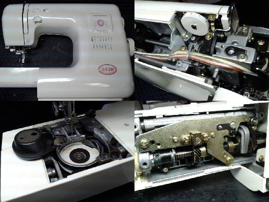 ジャノメミシン修理5420(751型)
