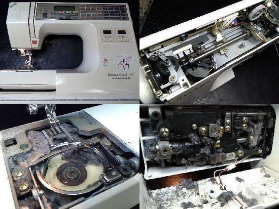 ジャノメミシン修理センサークラフト7100