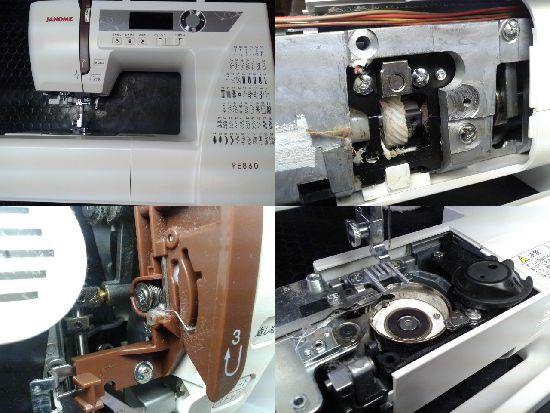 ジャノメミシン修理PE860