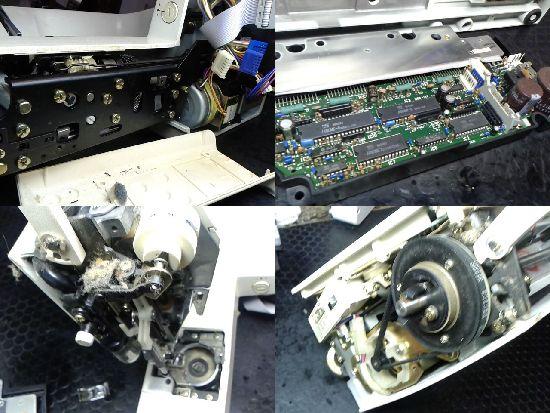 ジャノメメモリクラフト6500のミシン修理分解画像