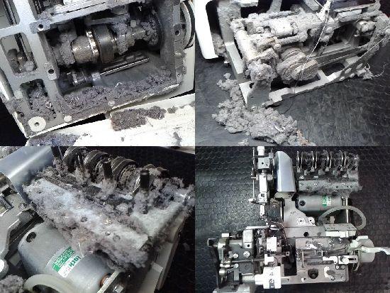 ジューキベビーロック衣縫人BL55EXSのミシン修理分解画像