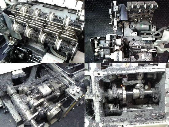 ジューキベビーロック糸取物語BL66EXSのミシン修理分解画像