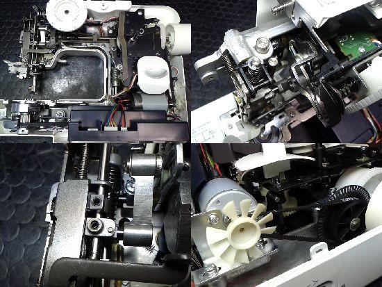 ブラザーELU52のミシン修理分解画像