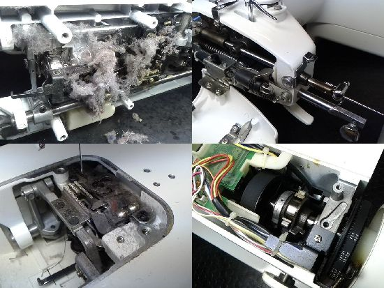 JUKI職業用ミシン修理分解画像シュプール98SPN