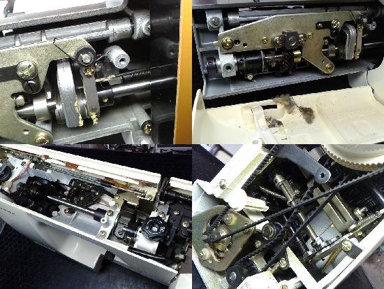 ジャノメエクセル22DXのミシン修理分解画像