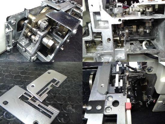 ジャノメドリームロック55Dのロックミシン修理分解画像