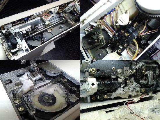 ジャノメセンサークラフト7500のミシン修理分解画像