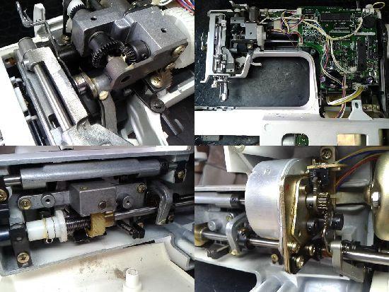 シンガーコンピューター7900のミシン修理分解画像