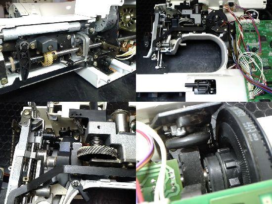 シンガーアプリコット9700のミシン修理分解画像