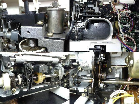 シンガーアプリコット9780のミシン修理分解画像