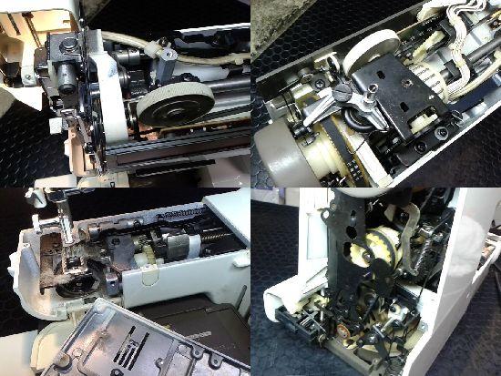 ブラザーコンパルデラックスのミシン修理分解画像