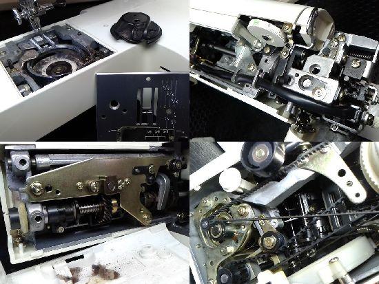 ジャノメクラウンレディ5006DXのミシン修理分解画像