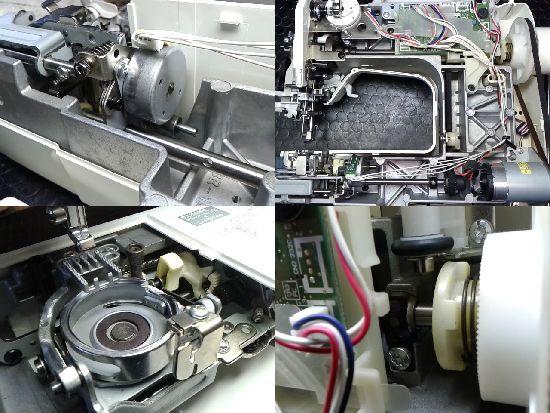 ブラザーCPV0303のミシン修理分解画像