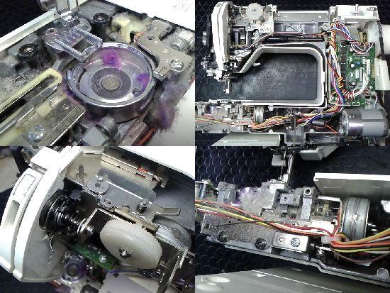 ブラザーイノヴィスM200(EMU17)のミシン修理分解画像