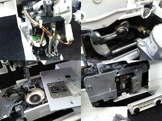 ジャノメIJ501のミシン修理分解画像