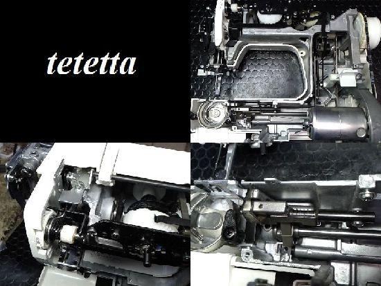 ジャノメJ1212(306型)のミシン修理分解画像