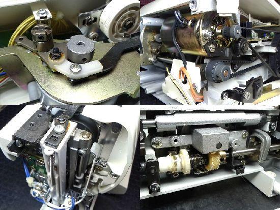 シンガーミシン修理minx2660の分解画像