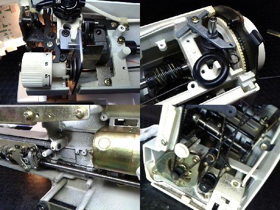 ジャノメプレール636型のミシン修理分解画像