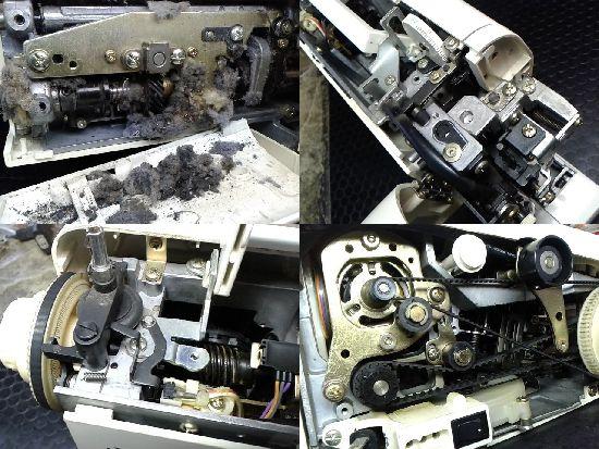 ジャノメS6060(751型)のミシン修理分解画像