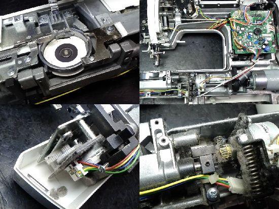 シンガーモナミヌウプラスSC-217のミシン修理分解画像