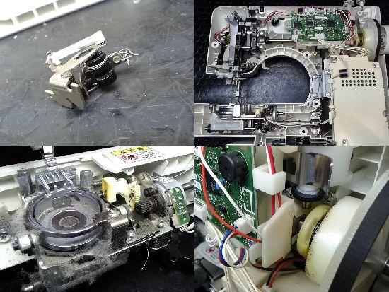 ブラザーSENSIA30(CPV75)のミシン修理分解画像