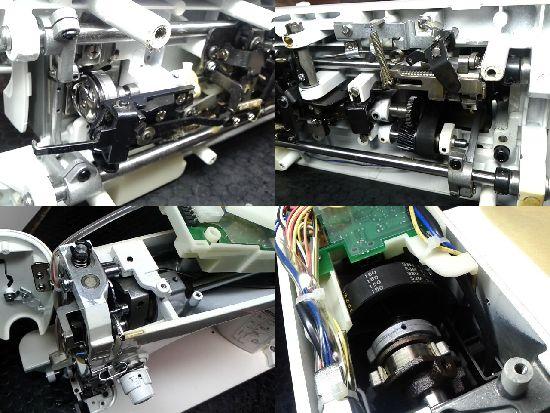 JUKISL-300EXのミシン修理分解画像