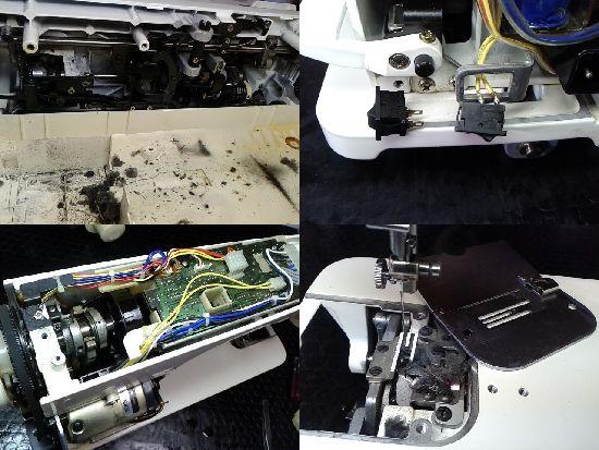 JUKIシュプール90のミシン修理分解画像