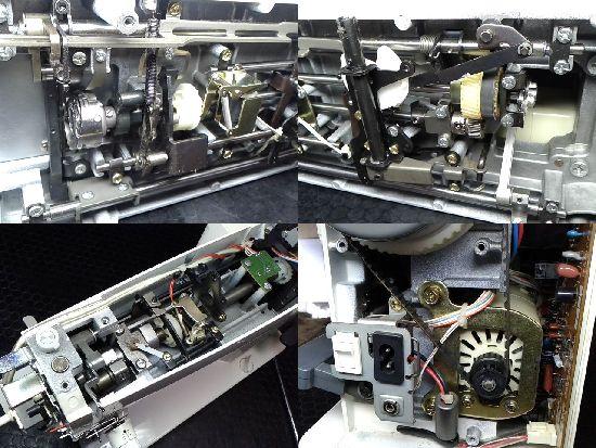 ブラザーヌーベルMDのミシン修理分解画像