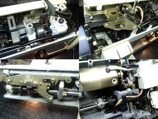 ジャノメコンビ2200SXのミシン修理分解画像
