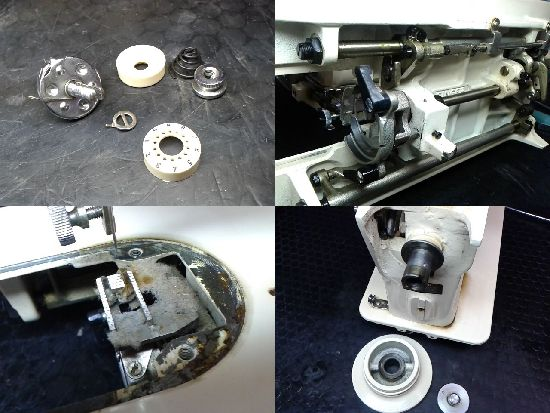 SINGER277Uのミシン修理分解画像