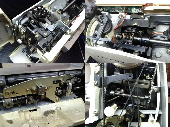 ジャノメエクセル22のミシン修理分解画像