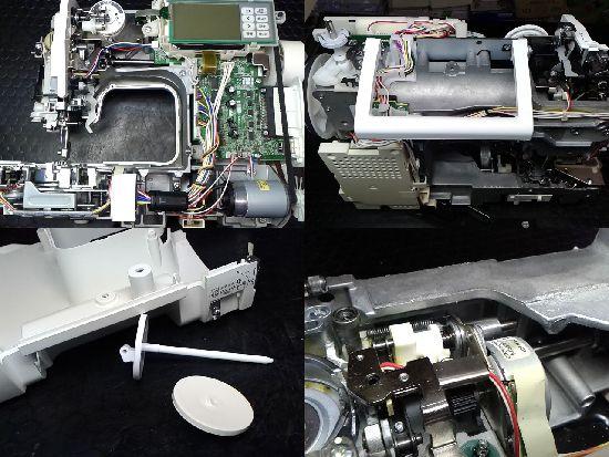 ブラザーミシン修理EMV40のミシン修理分解画像