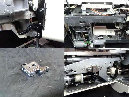 ジャノメJP510Nのミシン修理分解画像