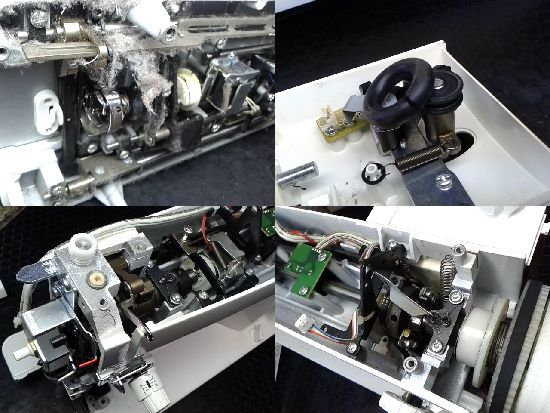 ブラザーヌーベル450のミシン修理分解画像