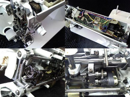 JUKIシュプール98DXのミシン修理分解画像