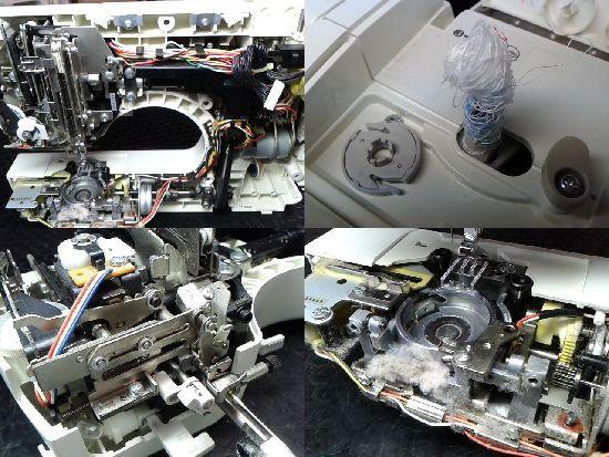 ブラザーEMS16のミシン修理分解画像