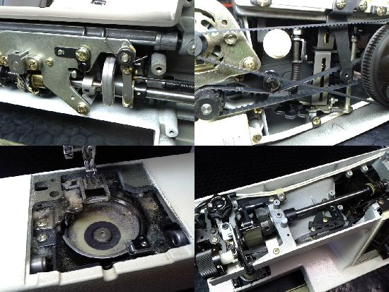 ジャノメEXCEL18のミシン修理分解画像