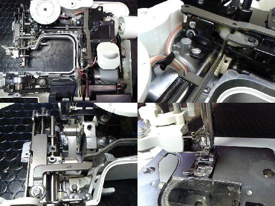 ブラザーF35-SLのミシン修理分解画像