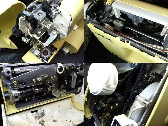 ジャノメクライムキKM2002のミシン修理分解画像