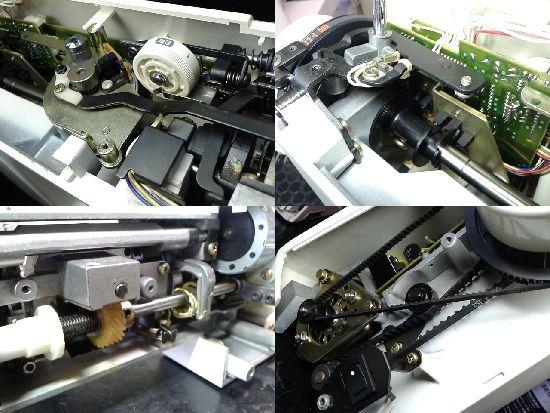 SINGERルミナ3000のミシン修理分解画像