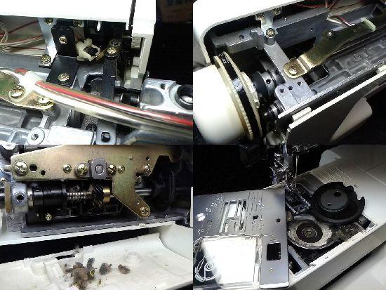 ジャノメS7700のミシン修理分解画像