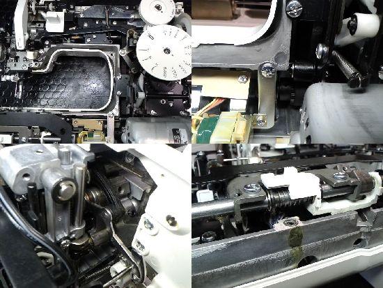ジャノメ502型のミシン修理分解画像