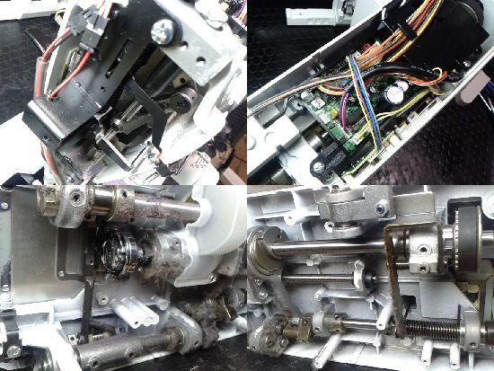 ジューキベビーロックEXCIM-PRO9400LS極のミシン修理分解画像