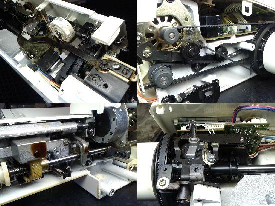 シンガーNUI-COM super 5580のミシン修理分解画像